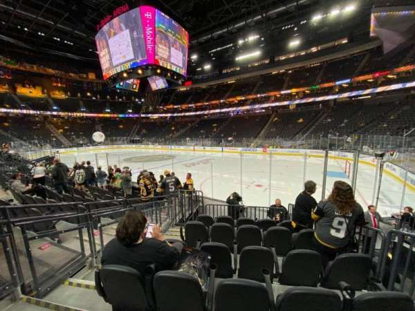 T-Mobile Arena, section: 8, row: F, seat: 3