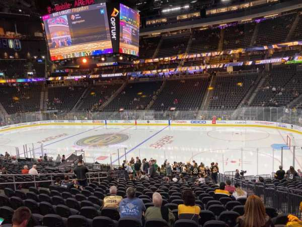 T-Mobile Arena, section: 7, row: I, seat: 15