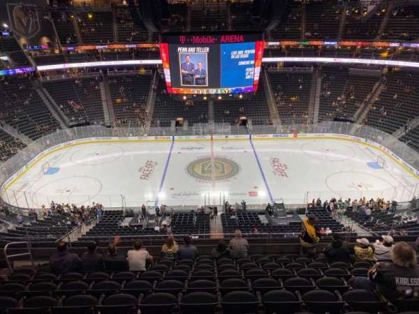T-Mobile Arena, section: 205, row: K, seat: 9