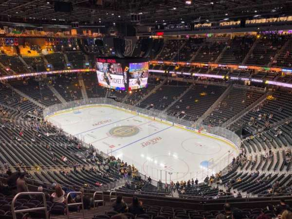 T-Mobile Arena, section: 210, row: M, seat: 5