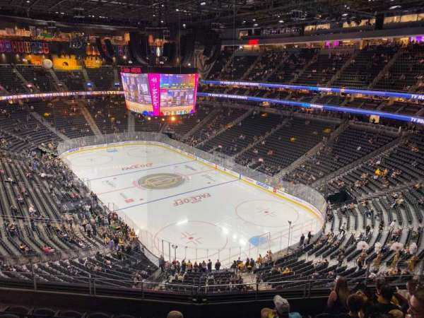 T-Mobile Arena, section: 211, row: G, seat: 9