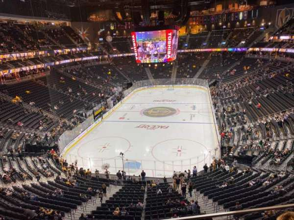 T-Mobile Arena, section: 215, row: B, seat: 10