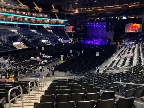 Chase Center, section: 107, row: 18, seat: 5