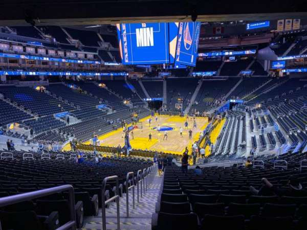 Chase Center, section: 107, row: 24, seat: 18