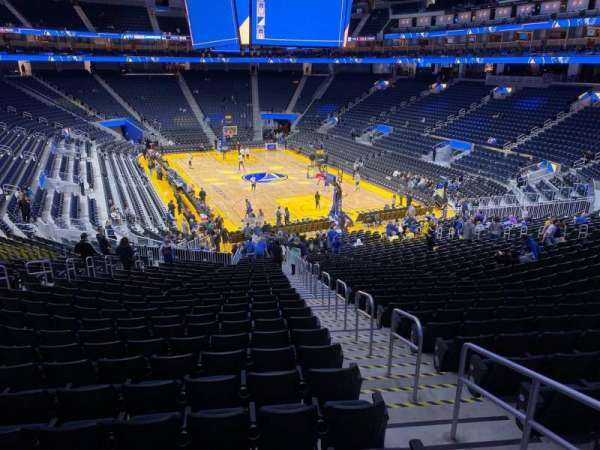 Chase Center, section: 123, row: 27, seat: 18