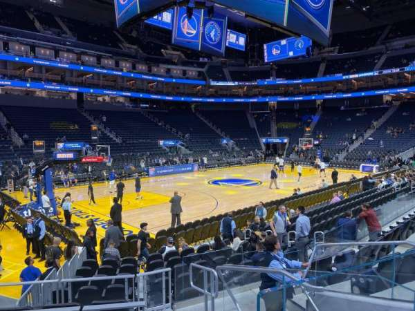 Chase Center, section: 118, row: 2, seat: 2