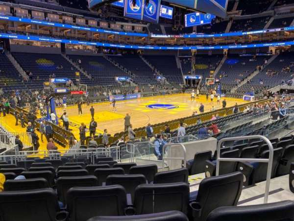 Chase Center, section: 118, row: 7, seat: 4