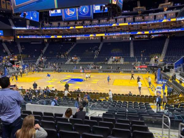 Chase Center, section: 115, row: 8, seat: 1