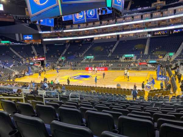 Chase Center, section: 114, row: 9, seat: 11