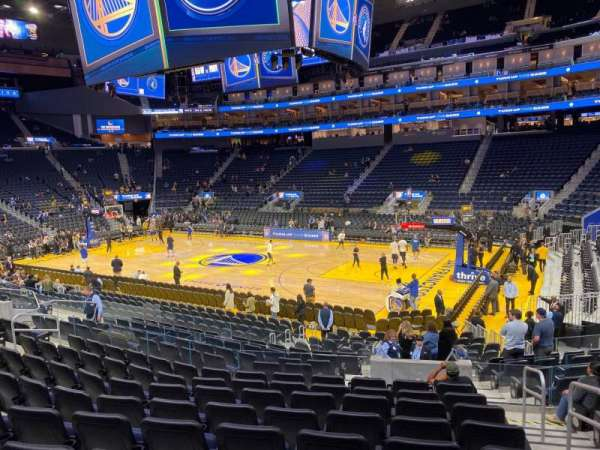 Chase Center, section: 114, row: 9, seat: 2