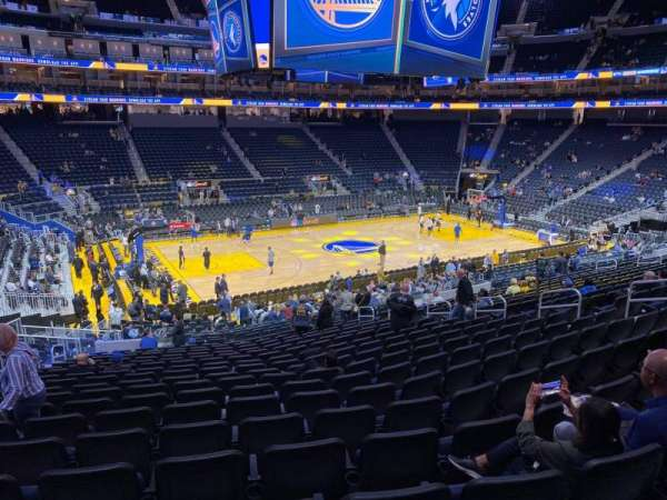 Chase Center, section: 117, row: 18, seat: 15