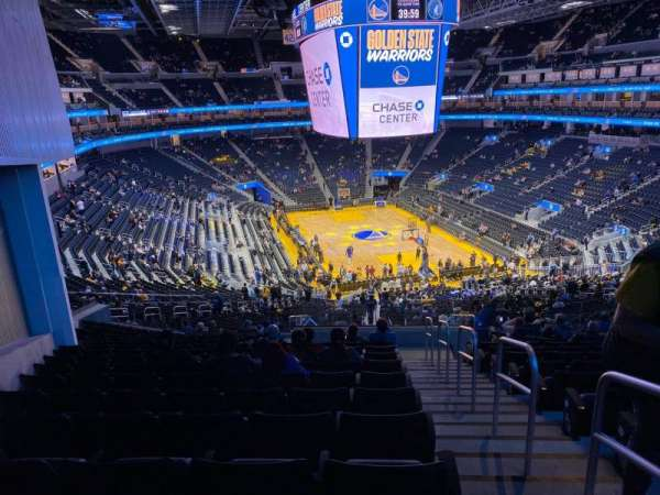 Chase Center, section: 129, row: 16, seat: 1
