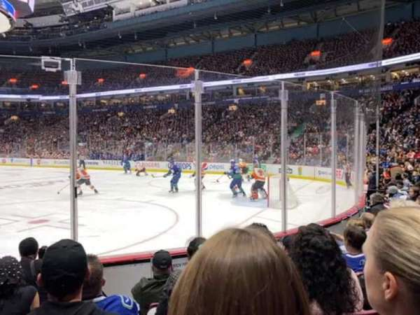 Rogers Arena, section: 103, row: 5, seat: 5