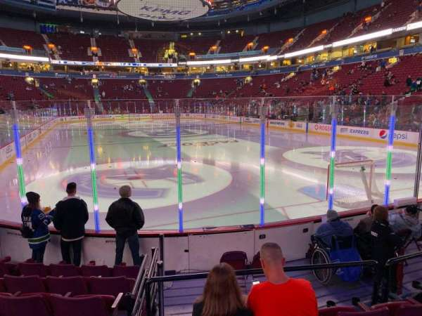 Rogers Arena, section: 101, row: 7, seat: 105