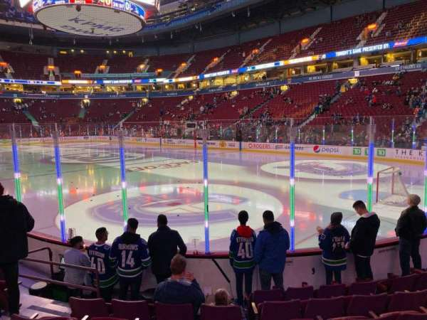 Rogers Arena, section: 103, row: 7, seat: 6