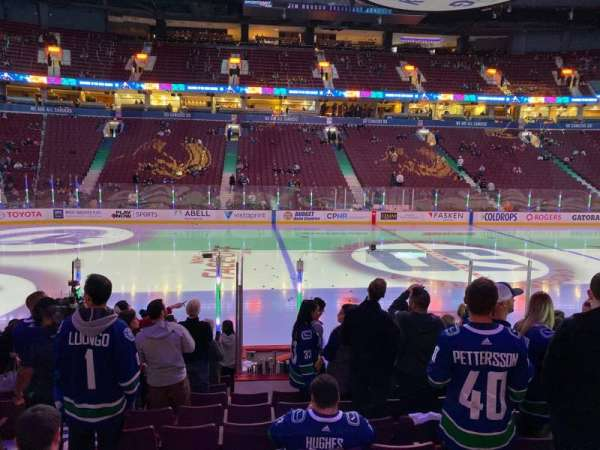 Rogers Arena, section: 118, row: 10, seat: 3