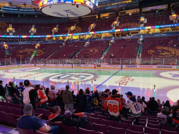 Rogers Arena, section: 116, row: 13, seat: 6