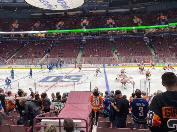 Rogers Arena, section: 116, row: 12, seat: 107