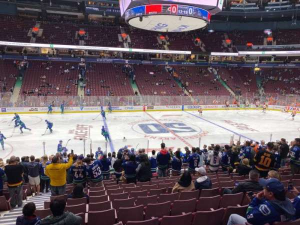 Rogers Arena, section: 118, row: 18, seat: 3