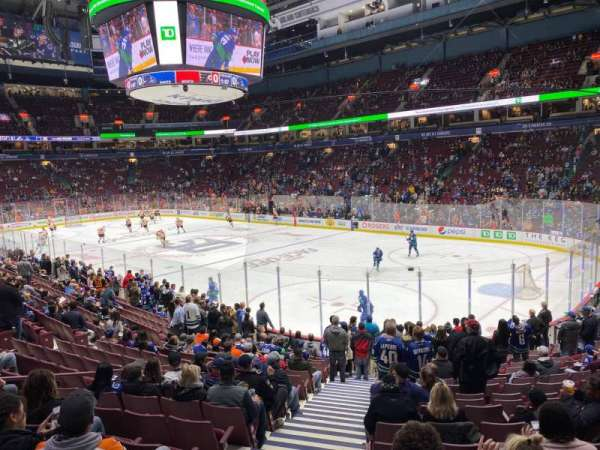 Rogers Arena, section: 103, row: 17, seat: 1