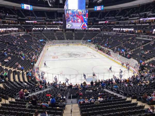 Pepsi Center, section: 218, row: 1, seat: 6