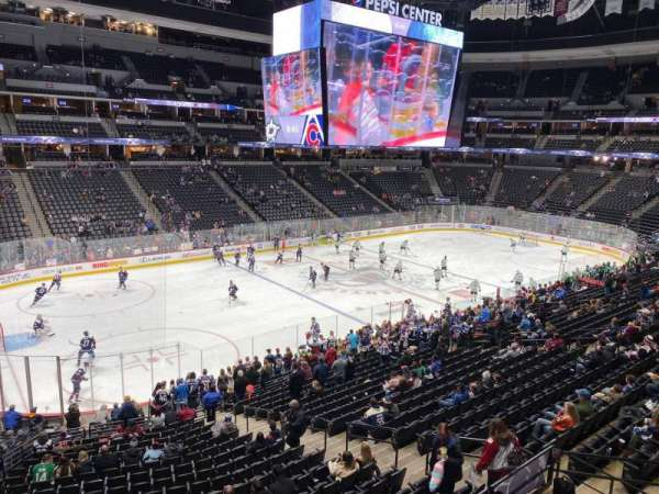 Pepsi Center, section: 206, row: 1, seat: 14