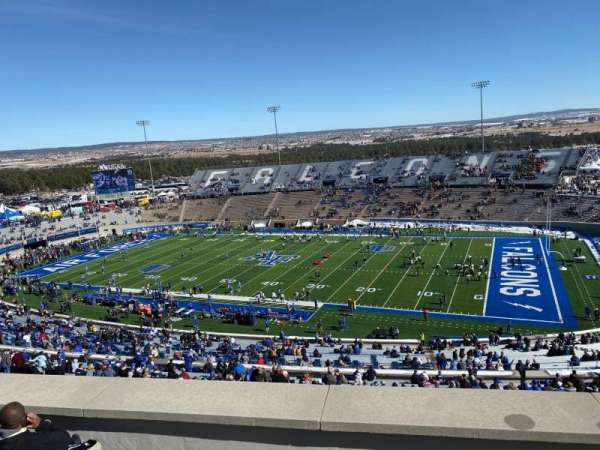 Falcon Stadium, section: U4, row: F, seat: 9