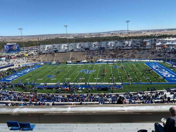 Falcon Stadium, section: U6, row: H, seat: 14