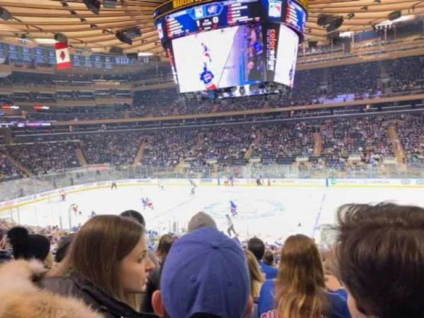 Madison Square Garden, section: 108, row: 20, seat: 8