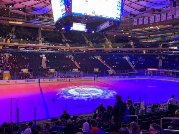 Madison Square Garden, section: 106, row: 10, seat: 15