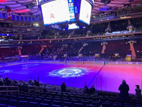 Madison Square Garden, section: 108, row: 14, seat: 13