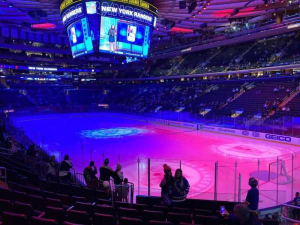 Madison Square Garden, section: 110, row: 13, seat: 16