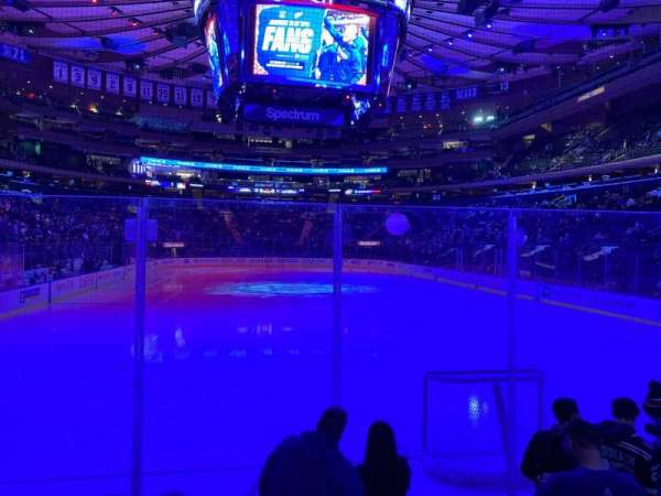 Madison Square Garden, section: 8, row: 4, seat: 1