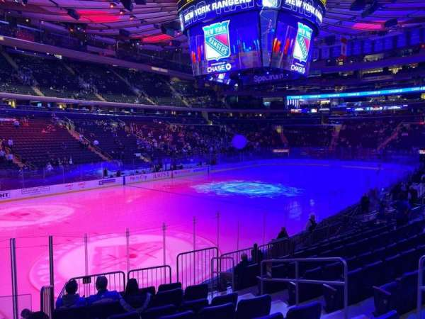 Madison Square Garden, section: 114, row: 12, seat: 15