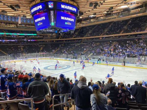 Madison Square Garden, section: 120, row: 15, seat: 3