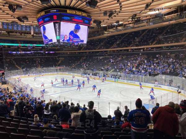 Madison Square Garden, section: 120, row: 18, seat: 17