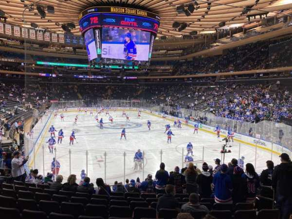 Madison Square Garden, section: 101, row: 15, seat: 15
