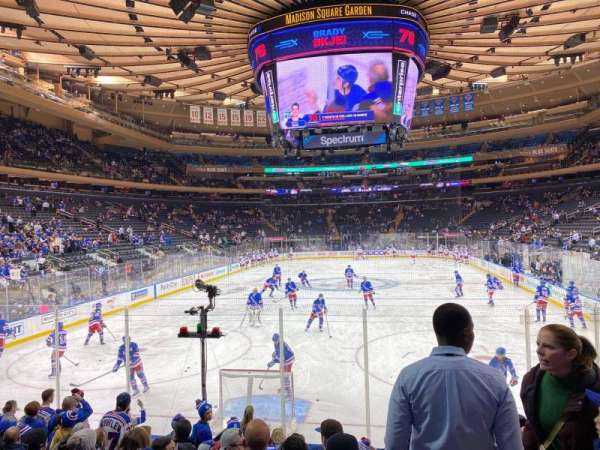 Madison Square Garden, section: 102, row: 8, seat: 16