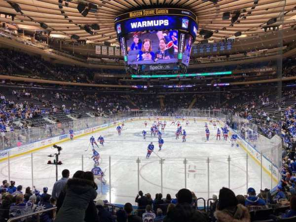 Madison Square Garden, section: 103, row: 12, seat: 3