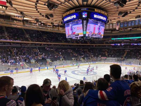 Madison Square Garden, section: 105, row: 18, seat: 5