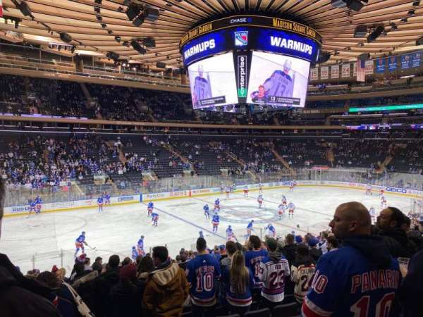 Madison Square Garden, section: 105, row: 19, seat: 10