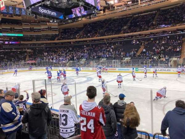 Madison Square Garden, section: 109, row: 6, seat: 1