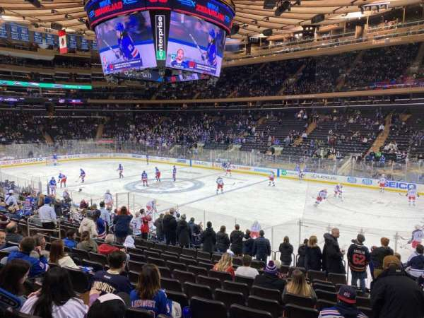 Madison Square Garden, section: 109, row: 16, seat: 20