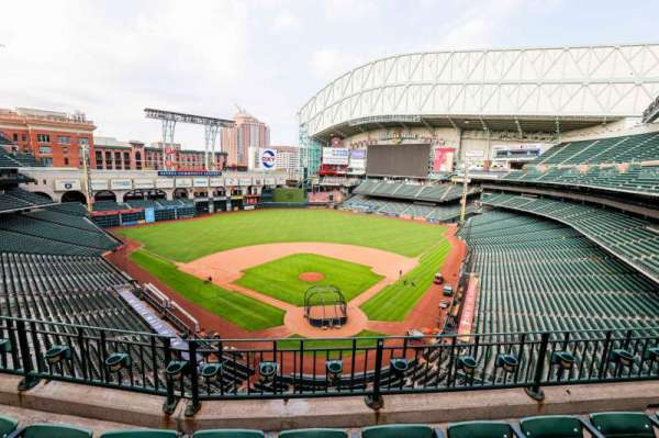 Minute Maid Park, section: 318, row: 3, seat: 8