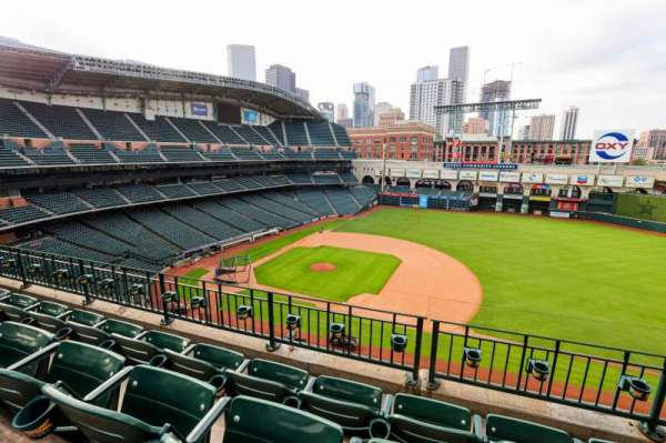 Minute Maid Park, section: 327, row: 4, seat: 10