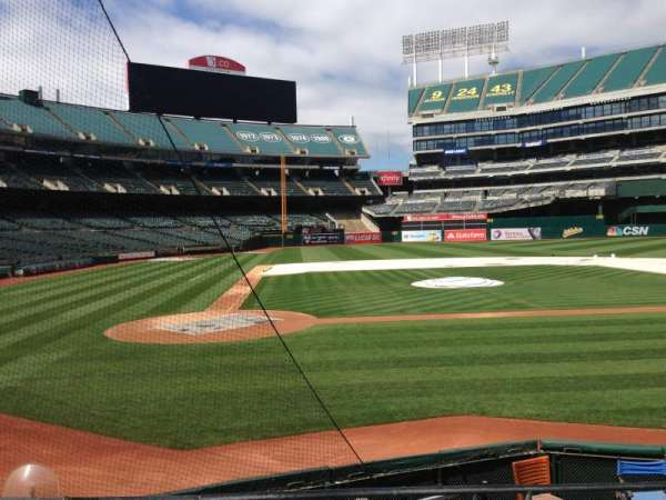 Oakland Coliseum, section: 115, row: 6