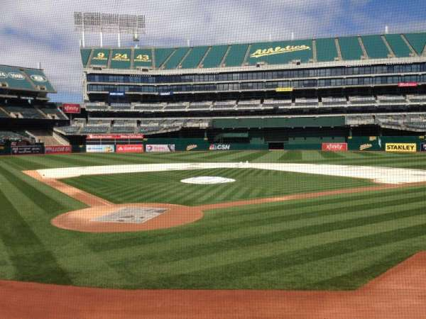 Oakland Coliseum, section: 116, row: 13