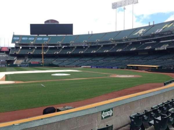 Oakland Coliseum, section: 122, row: 8