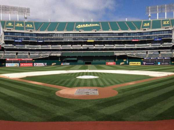 Oakland Coliseum, section: 117, row: 14