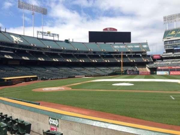 Oakland Coliseum, section: 113, row: 8